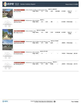 Market Activity Report Sample (Page 10)
